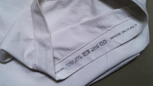 etichetta della maglietta soft tube per busto ortopedico